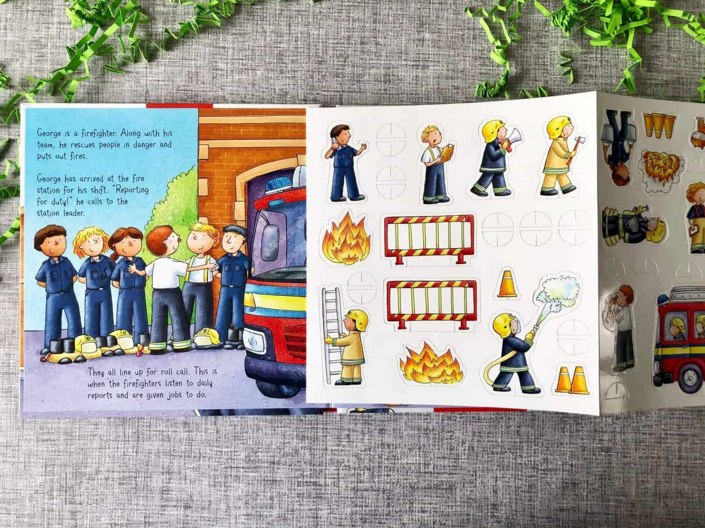 Fire Station story book, building and play mat