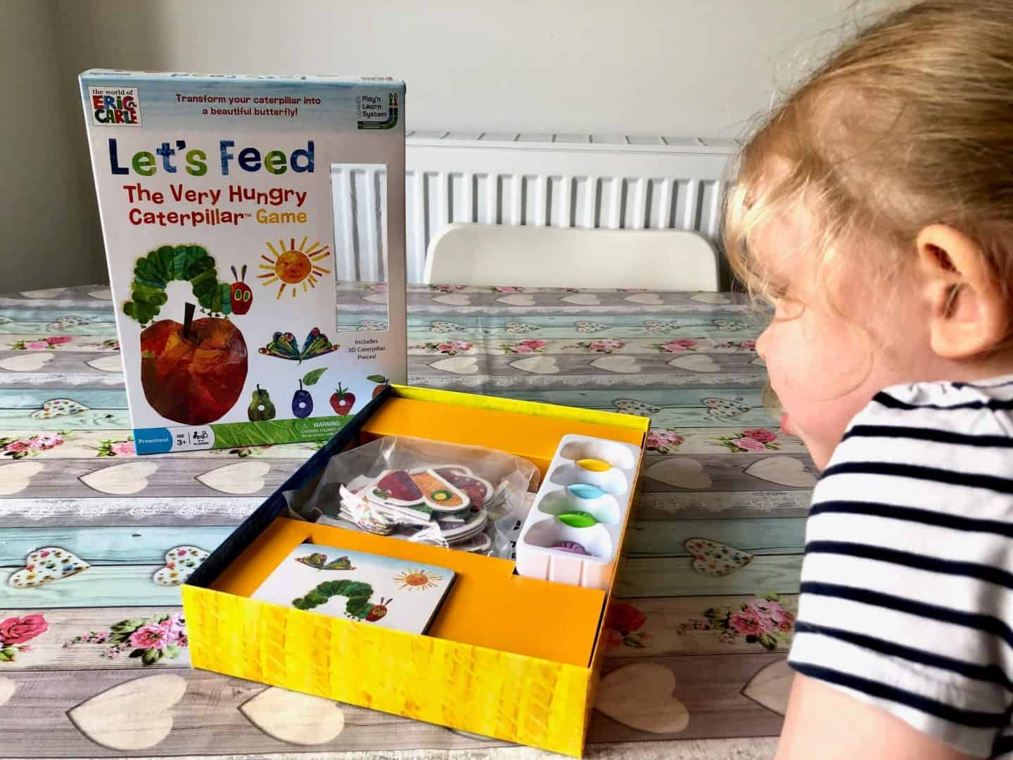Let's Feed the Very Hungry Caterpillar board game - Pieces in the box