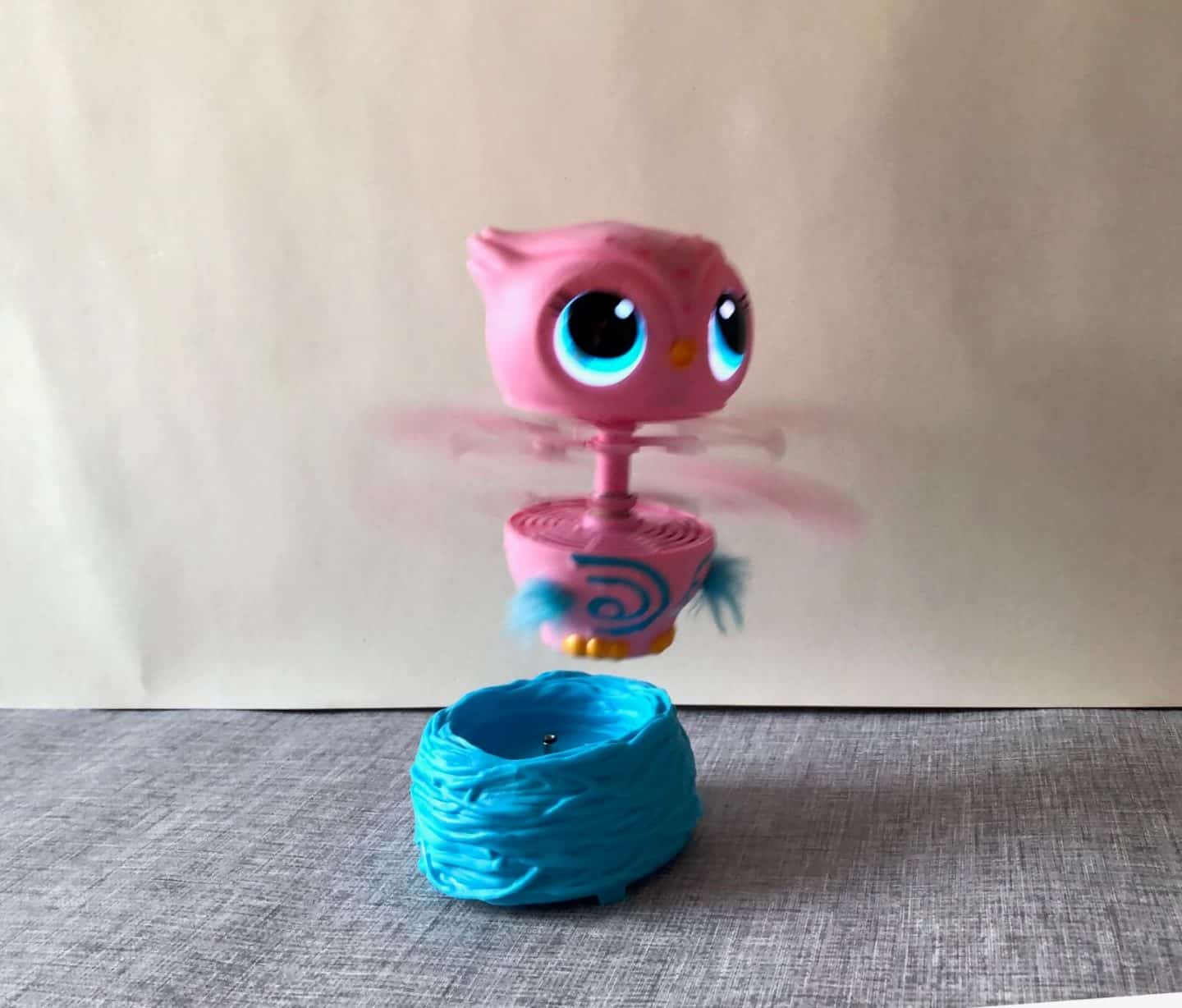 Owleez Interactive Toy leaving her nest to fly