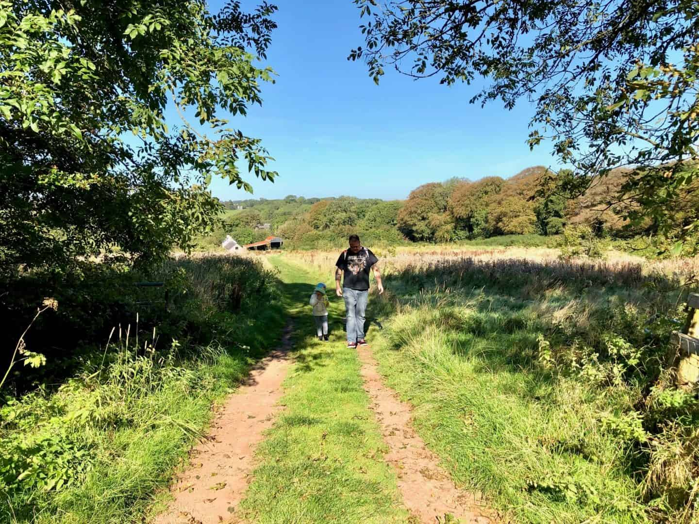 Walking the Yellow Trail at Bluestone during the Bwbach Festival