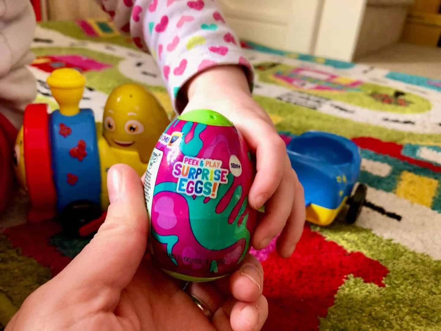Playing with the Chu Chu TV Peek and Play Surprise Eggs