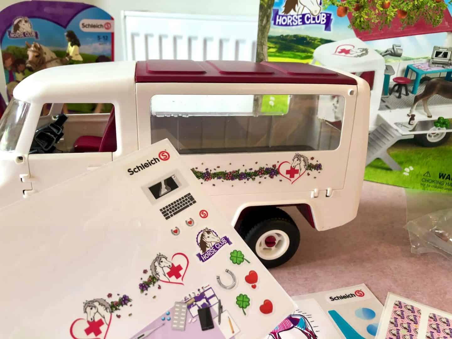 decorate the van with its markings.