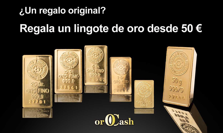 Regala lingotes de oro