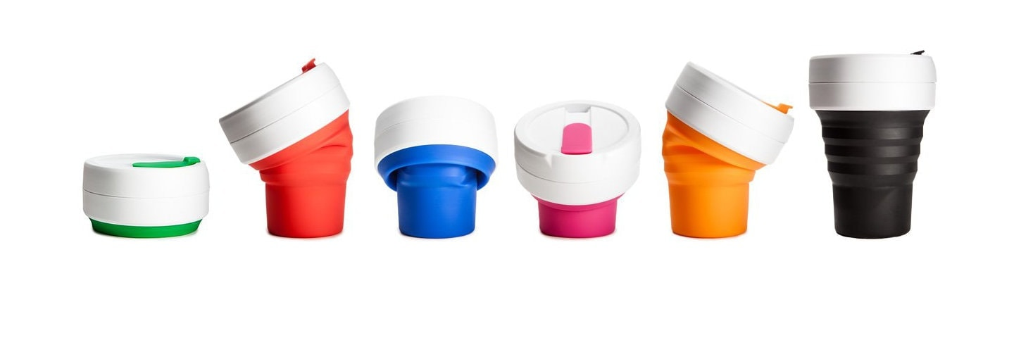 stojo Pocket Cup - der faltbare & wiederverwendbar Coffee to go Becher