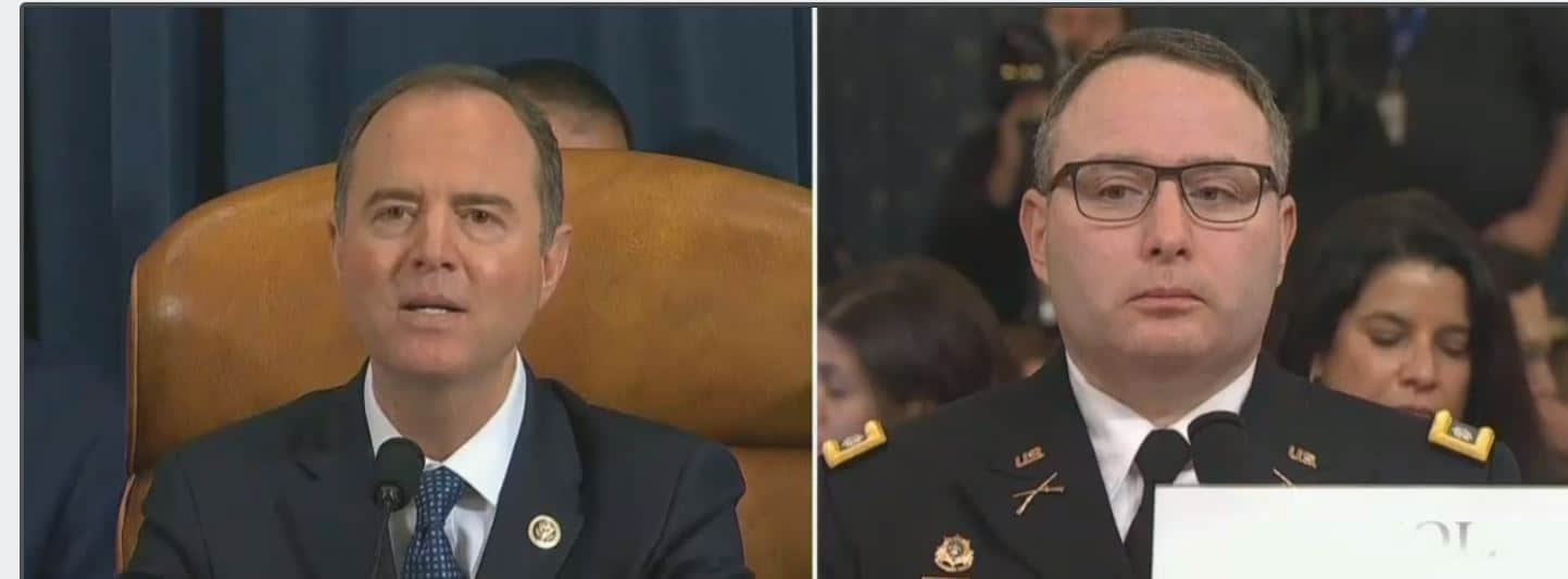 Schiff uses Vindman to nail Trump