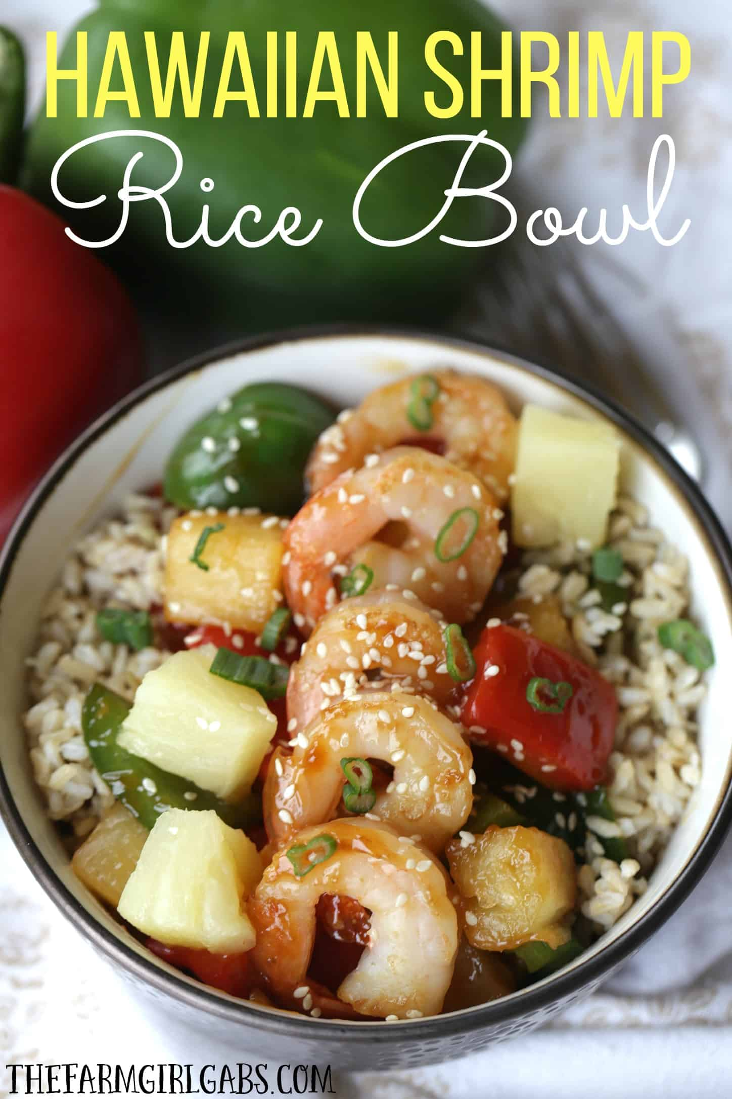 This Hawaiian Shrimp Rice Bowl is a flavorful and simple 30-Minute meal that is full of Polynesian flavors. #StirUpTheFun #Ad @minutericeUS @DoleSunshine @kikkomanusa
