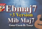 Ebmaj7 chord diagram. For alternate fingerings, click on the chord diagram.