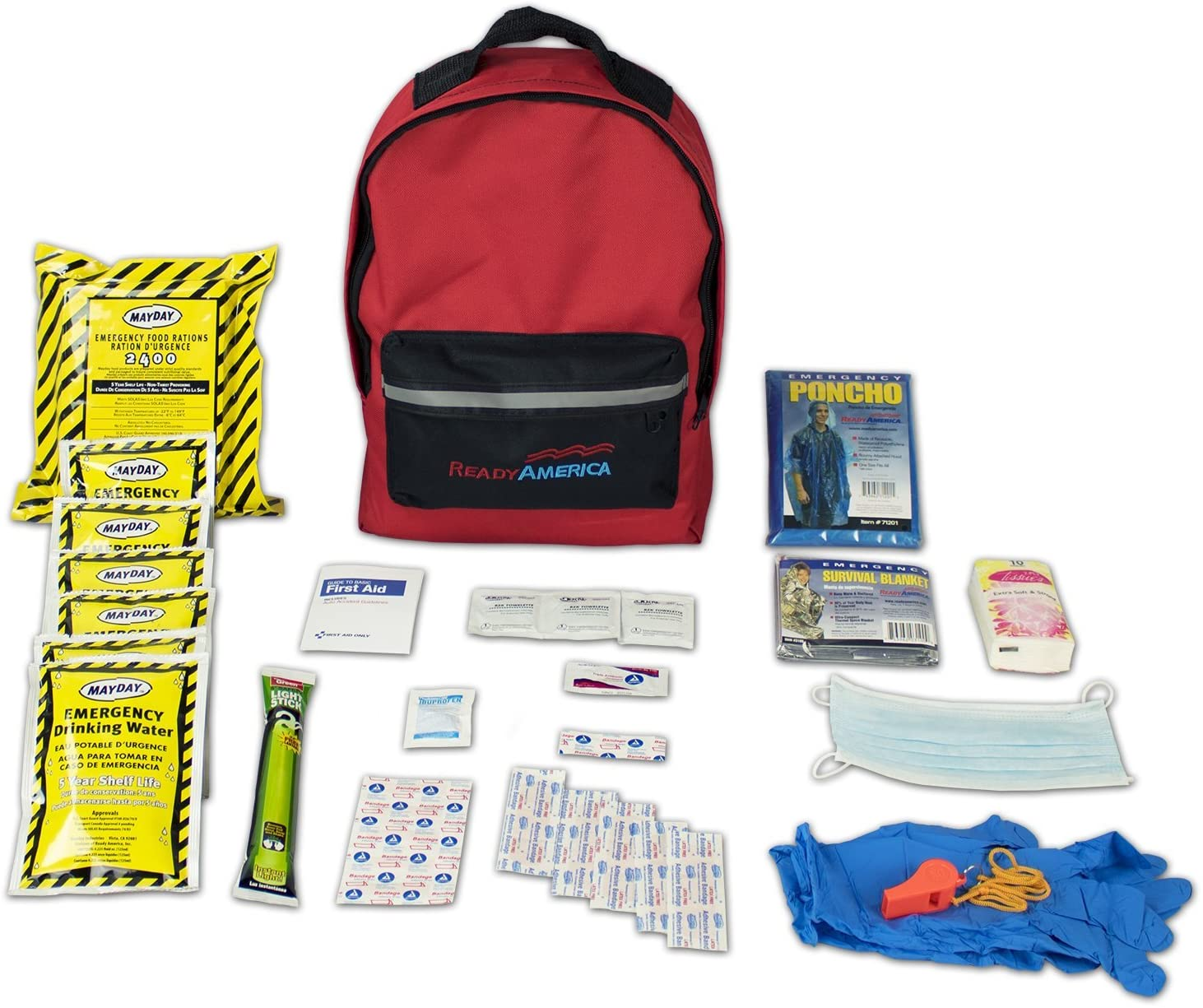 Ready America 70180 Emergency Kit 1 Person Backpack 2