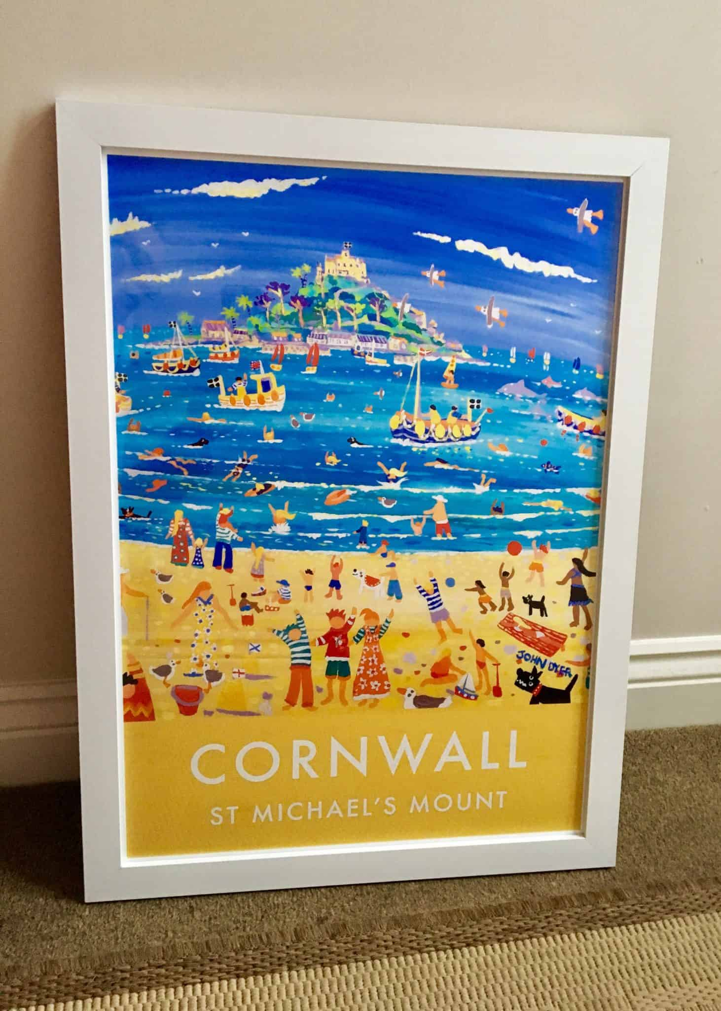 Vintage Style Art Poster - St Michael's Mount, Cornwall