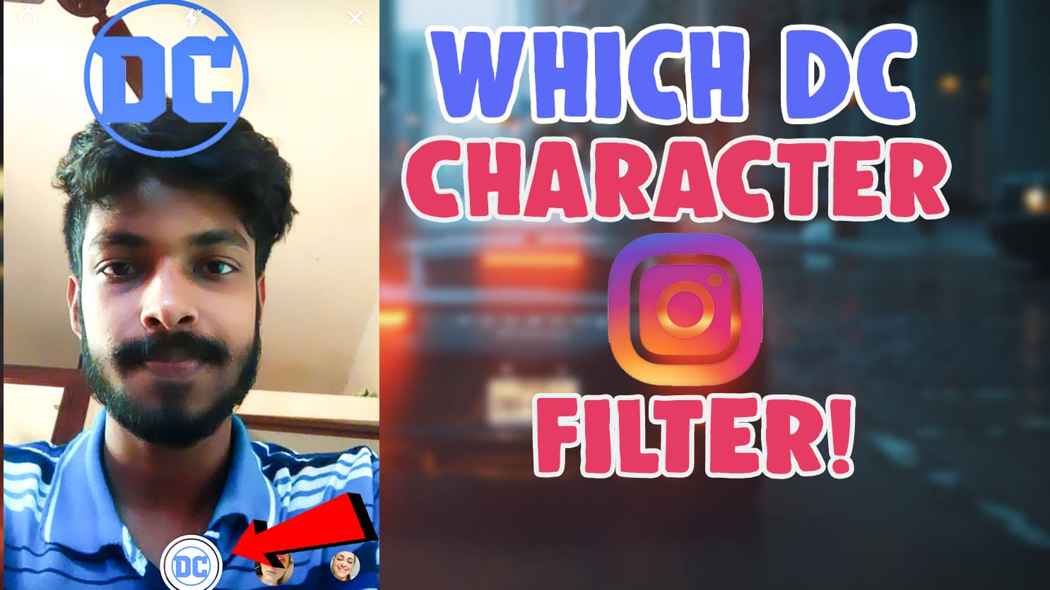 which dc character are you filter instagram and tiktok