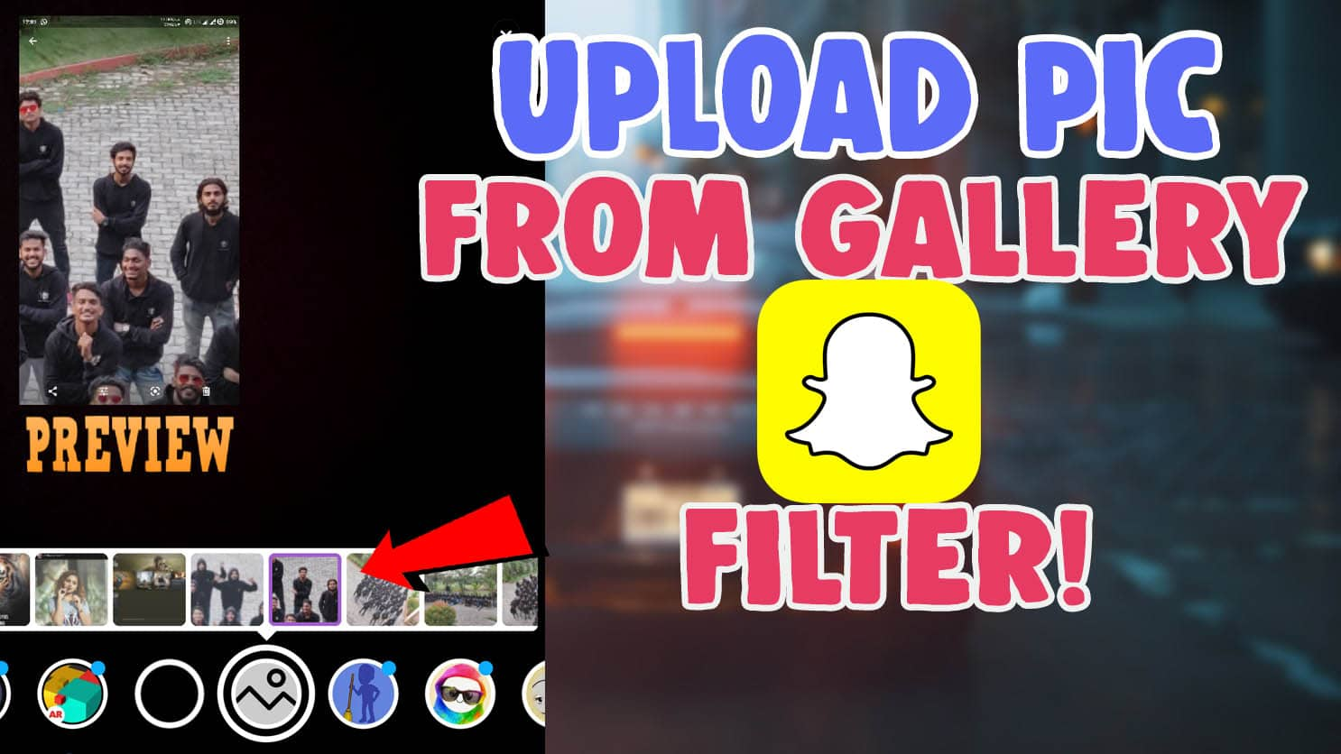snapchat filter camera roll upload