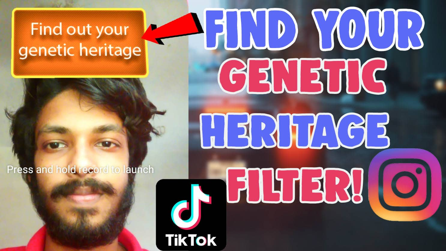 find out your genetic heritage filter instagram tiktok