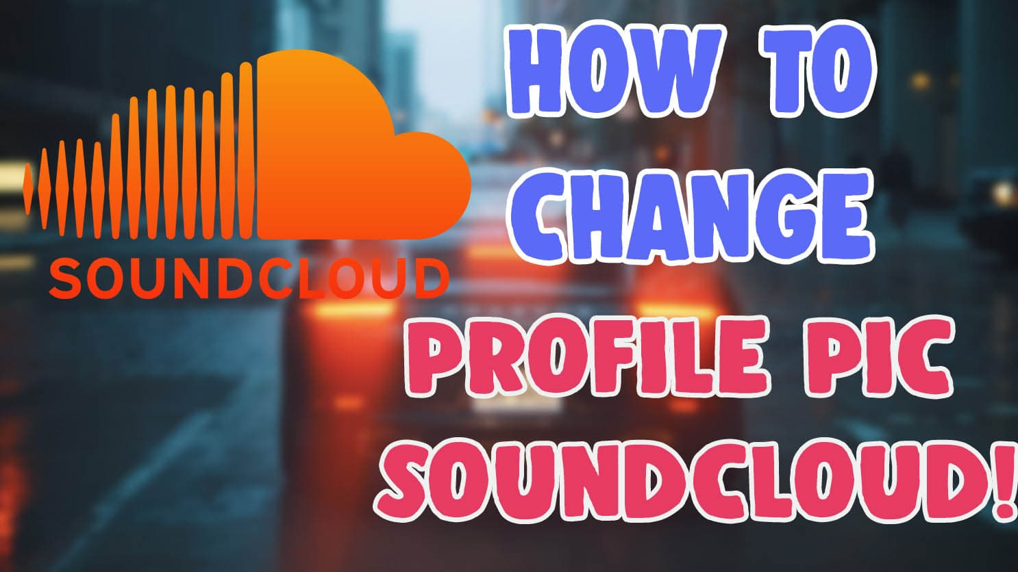 change profile picture on soundcloud android ios app