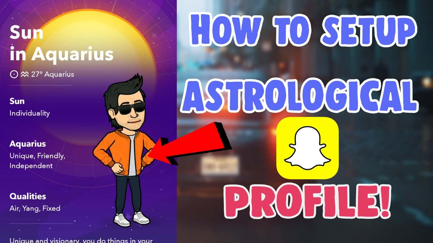how to setup an astrological profile snapchat