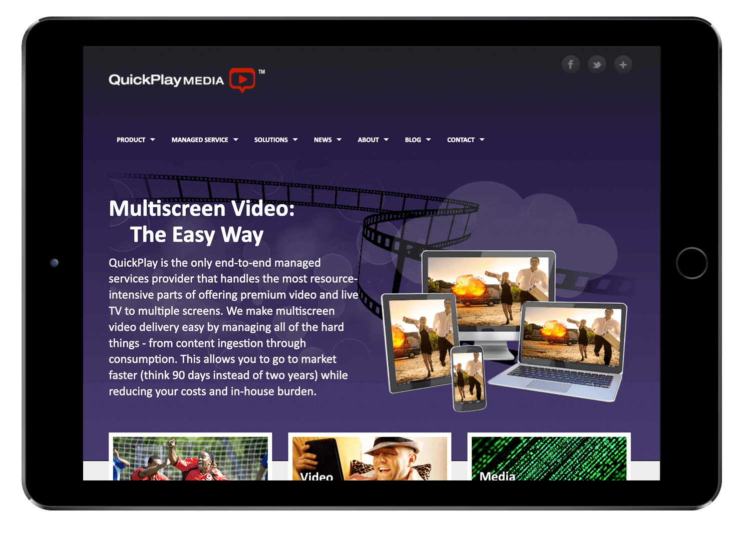 QuickPlay Old Website Design