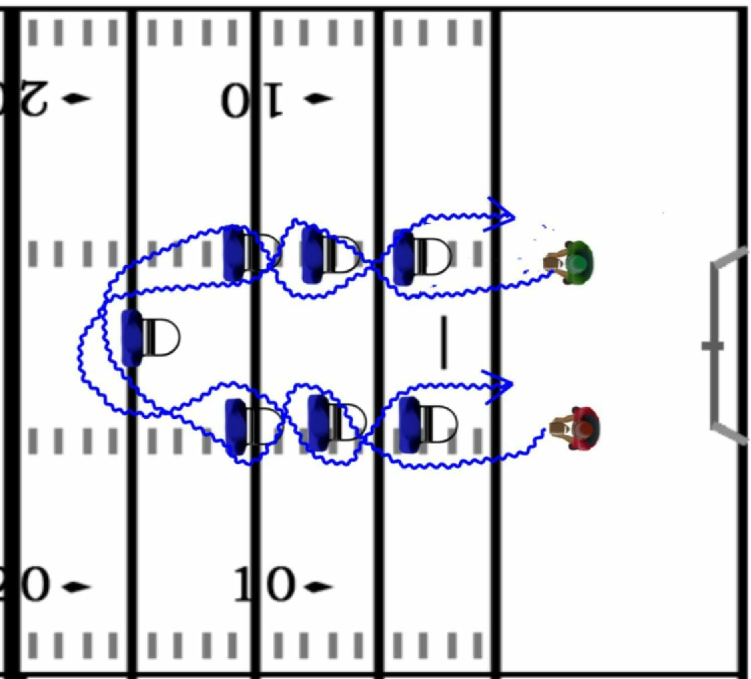 running back drills 1