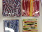 Aboriginal Glass Art - Sushi Plate