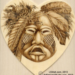 Pyrography Mask Project by Irish