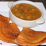 Tomato Dosai /Thakkali Dosai (Indian Rice crepes made with tomatoes)