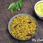 Vazhaipoo Paruppu Usilli – Steamed Lentils with Banana flower