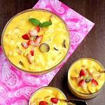 4 Ingredients Fruit Salad with Mango Pulp