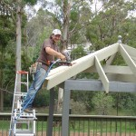 DIY Installation of the plywood cladding shingle system base