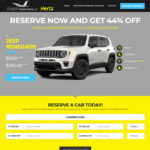 Eagle Automotive Hertz Northern Alabama landing page website