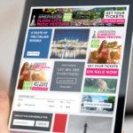 Flood City Music Festival digital ads displayed on a tablet
