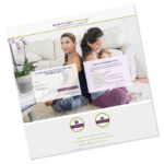Laptop mockup of Ma Yoga Living log in page: membership sites for moms