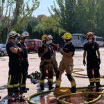Los servicios de bomberos de 8 ciudades españolas mejoran su formación en el Parque de Albacete