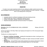 Sample Bartender Resume | Professionally Written