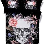 Onlyway-calavera-Esqueleto-Halloween-impresión-sábanas-de-cama-con-calaveras