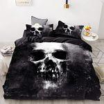 sábanas-Halloween-Personalizado-Calavera-220x260cm-sábanas-de-cama-con-calaveras