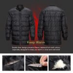 Men Women Winter Warm Cotton Jackets With Reflective Strips Work Clothes Warm Liner Detachable