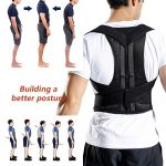 Unisex Back Posture Corrector Brace Support Belt Adjustable Medical Spine Support Belt Posture Correction Shoulder Lumbar Brace