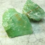 piedra de calcita verde