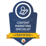 Certification for Digital Marketer Content Marketing Specialist