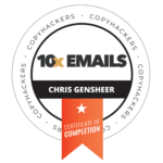 Certification for Copyhackers 10x Email