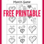 Free Printable Valentine's Day Heart Matching Game