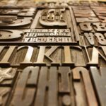 printing plate, letters, font