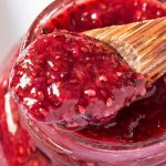 Closeup of Strawberry Chia Jam