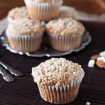 Whole Wheat Almond Streusel Muffins