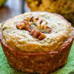 Keto Zucchini Muffin with pecan topping