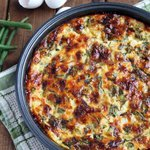 Crustless Bacon and Veggie Quiche