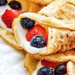 Low carb crepes with cream