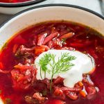 Borscht Soup In Bowl
