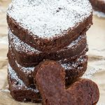 Stack of healthy chocolate brownies