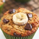 Coconut Flour Banana Muffin with chocolate chips