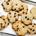 Oat Cookies made with coconut flour on a tray