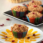 Whole Wheat Apple Cranberry Muffins with Streusel Topping – Egg less Recipe